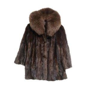 Fox and Mink fur Hollywood starlet coat.